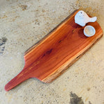 Redgum natural serving board - extra large paddle