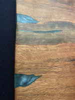 Resin Inlay Spotted gum serving platter