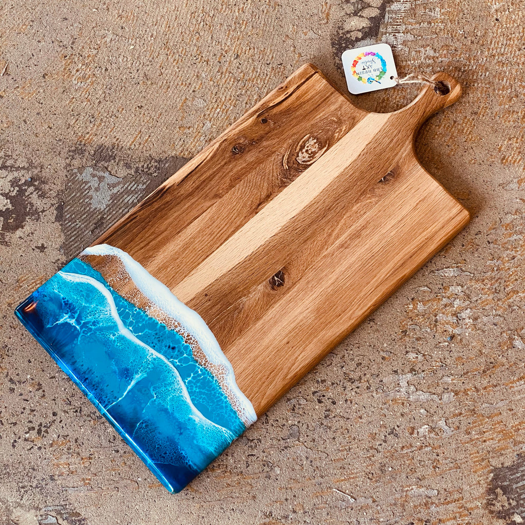 Resin Art Large Oversize Paddle Board - ocean