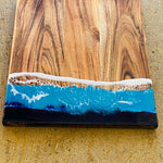 Square Acacia Resin Board