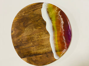 Personalised Round  - Sunset Ocean