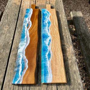 XL grazing board with ocean waves - Acacia