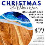 Christmas Pre Orders - Lazy Susan with resin ocean art
