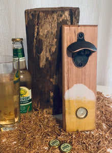 Wall Mounted Bottle Opener - Resin Art