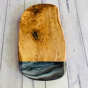 Olive Wood Resin Art Rustic handcrafted chopping board