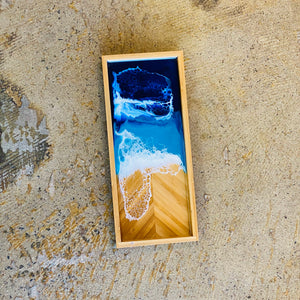 Resin art bamboo tray