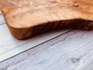 Small Olive Wood Rustic handcrafted chopping board