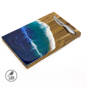 Ocean resin art board & knife set
