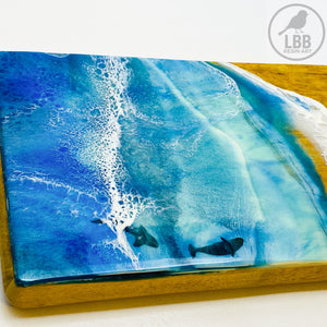 Small Serving Platter Board - Under the sea