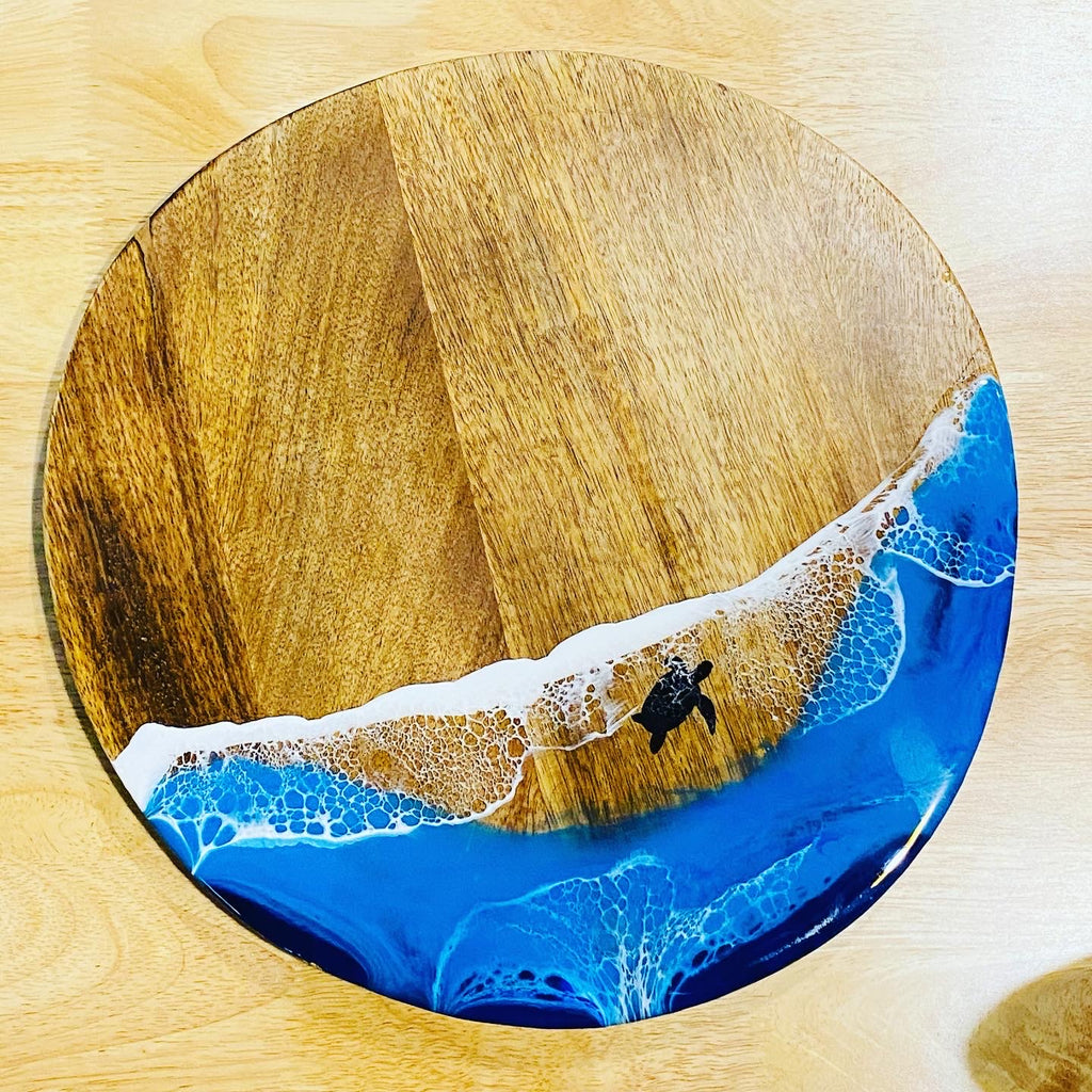 Round Serving Platter, under the ocean + Personalisation