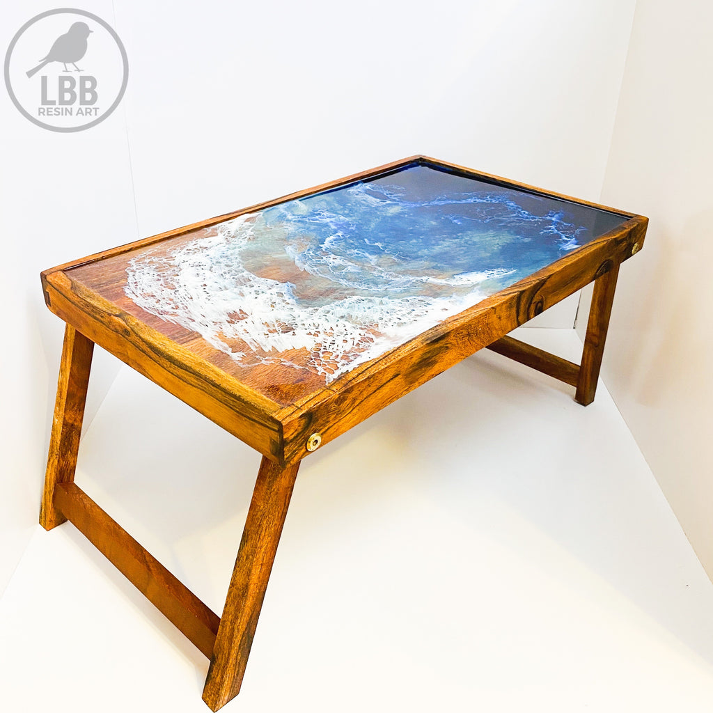 Resin folding grazing table, or tray