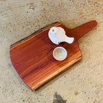 Redgum natural serving board - oversized paddle