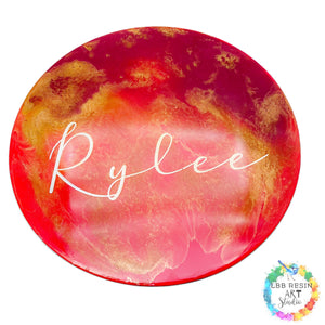 Personalised Resin Art Name Board
