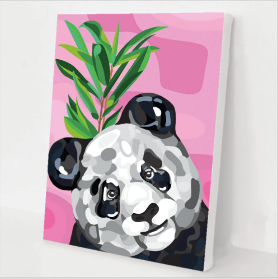 Happy Panda Paint By Numbers Kit for Beginners