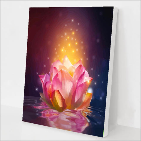 Lotus Flower Paint by Numbers kit
