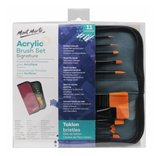 11 Piece Acrylic Brush Set and Wallet