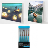Best Sellers Bundle 5 (2 Paintings + 5 pcs Mini Detail Brush set)