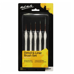 Mini Detail and Liner Brush Set - 5 Pack