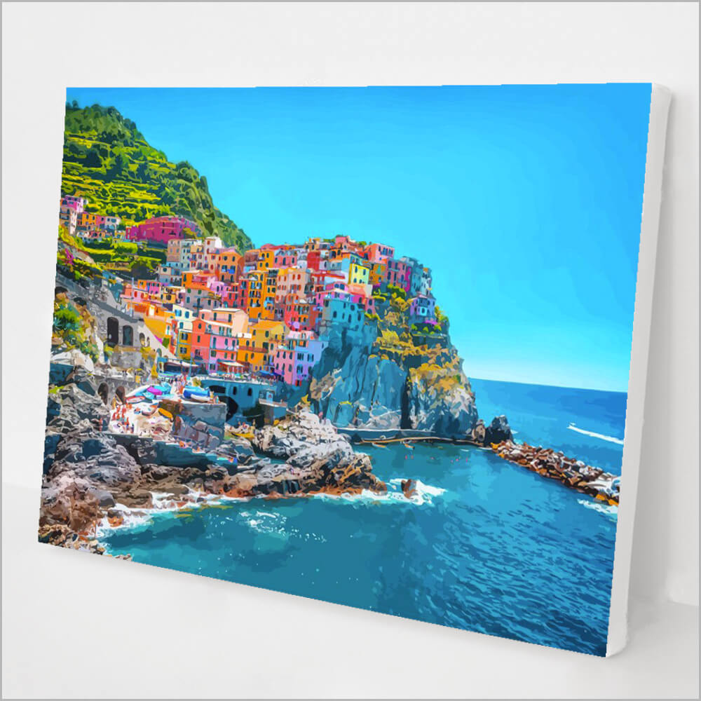 DIY acrylic Painting Picture Art Manarola Italy Paint By Numbers