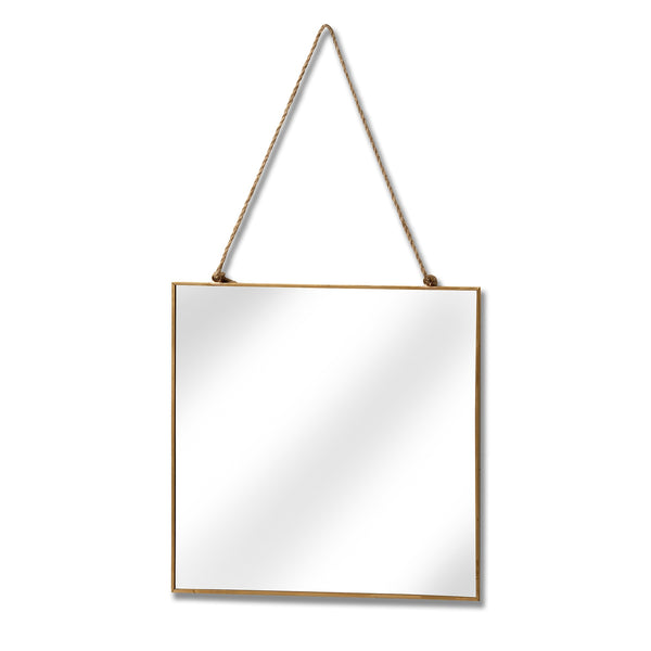 Gold Edged Square Hanging Wall Mirror - MRR