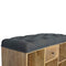 Sandra Shoe Storage Bench with Upholstered Black Tweed Seat