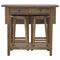 Destiny Solid Wood Breakfast Table With 2 Stools