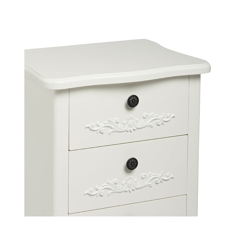 Antoinette 3 Drawer Chest White
