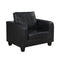 Chair In A Box Black Faux Leather