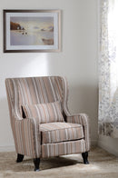 Sherborne Fireside Chair in Beige Stripe
