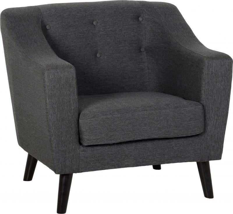 Chair in Dark Grey Fabric