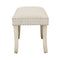 Lyon Fabric Bench Cream