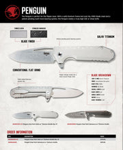 Penguin Drop Point Rev. 01 - Spec Sheet - By Southern Grind