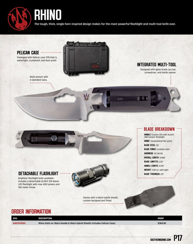 Rhino with Pelican Case - Spec Sheet - By Southern Grind