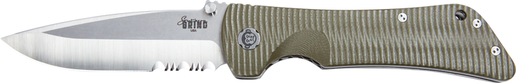 Bad Monkey Drop Point Satin Serrated