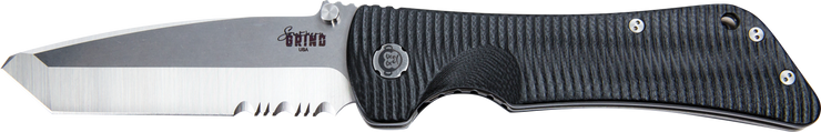 Bad Monkey Tanto Satin Serrated
