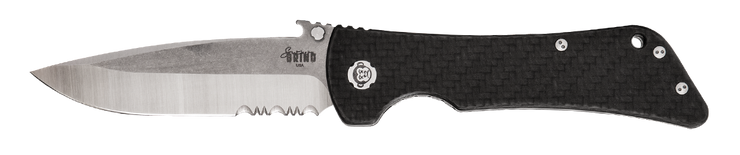 Bad Monkey Drop Point Emerson Wave - Serrated - Satin - By Southern Grind