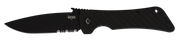 Bad Monkey Drop Point Emerson Wave - Serrated - Black - By Southern Grind