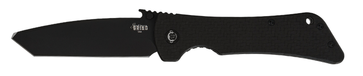 Bad Monkey Tanto Emerson Wave - Non-Serrated - Black - By Southern Grind