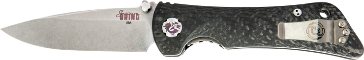 Spider Monkey Drop Point Satin w/ Carbon Fiber Handle (Fully Functional Left Hand)