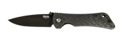 Spider Monkey Drop Point - Non-Serrated - Black - Carbon Fiber - By Southern Grind