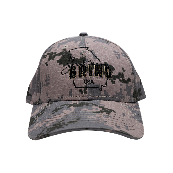Military Digital Camouflage Georgia Logo Hat