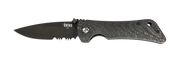 Spider Monkey Drop Point - Serrated - Black - Carbon Fiber - By Southern Grind