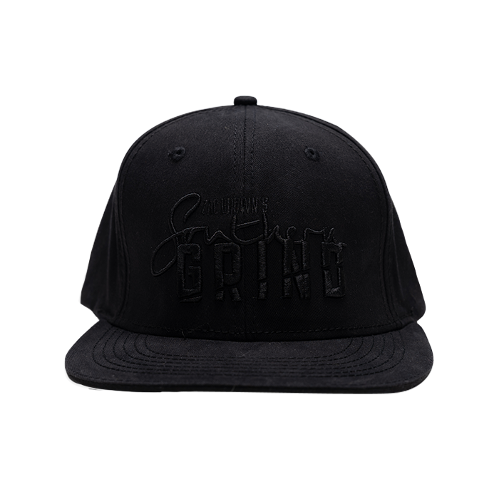 Comfort Fit Flat Bill Black Out Logo Hat