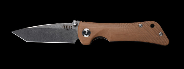 Spider Monkey Tanto Satin & Desert Tan