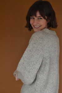 Mockneck Knit in Sandy Beige