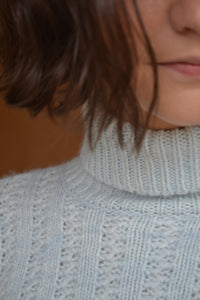 Mermaid Turtleneck in Powder Blue