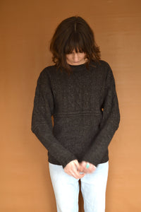 Structured Heavy Knit in Charcoal