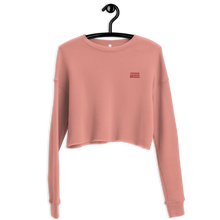 Load image into Gallery viewer, Embroidered Rose Cropped Fleece
