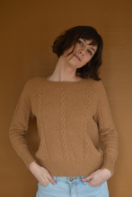 Load image into Gallery viewer, Wide Neck Knit in Camel