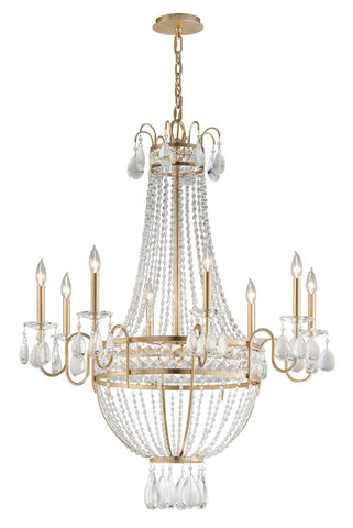 Distressed Gold Leaf Chandelier